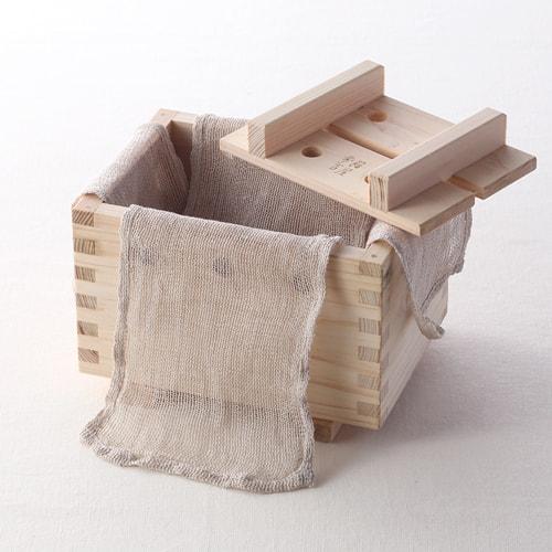 手作り豆腐箱(麻布付き)